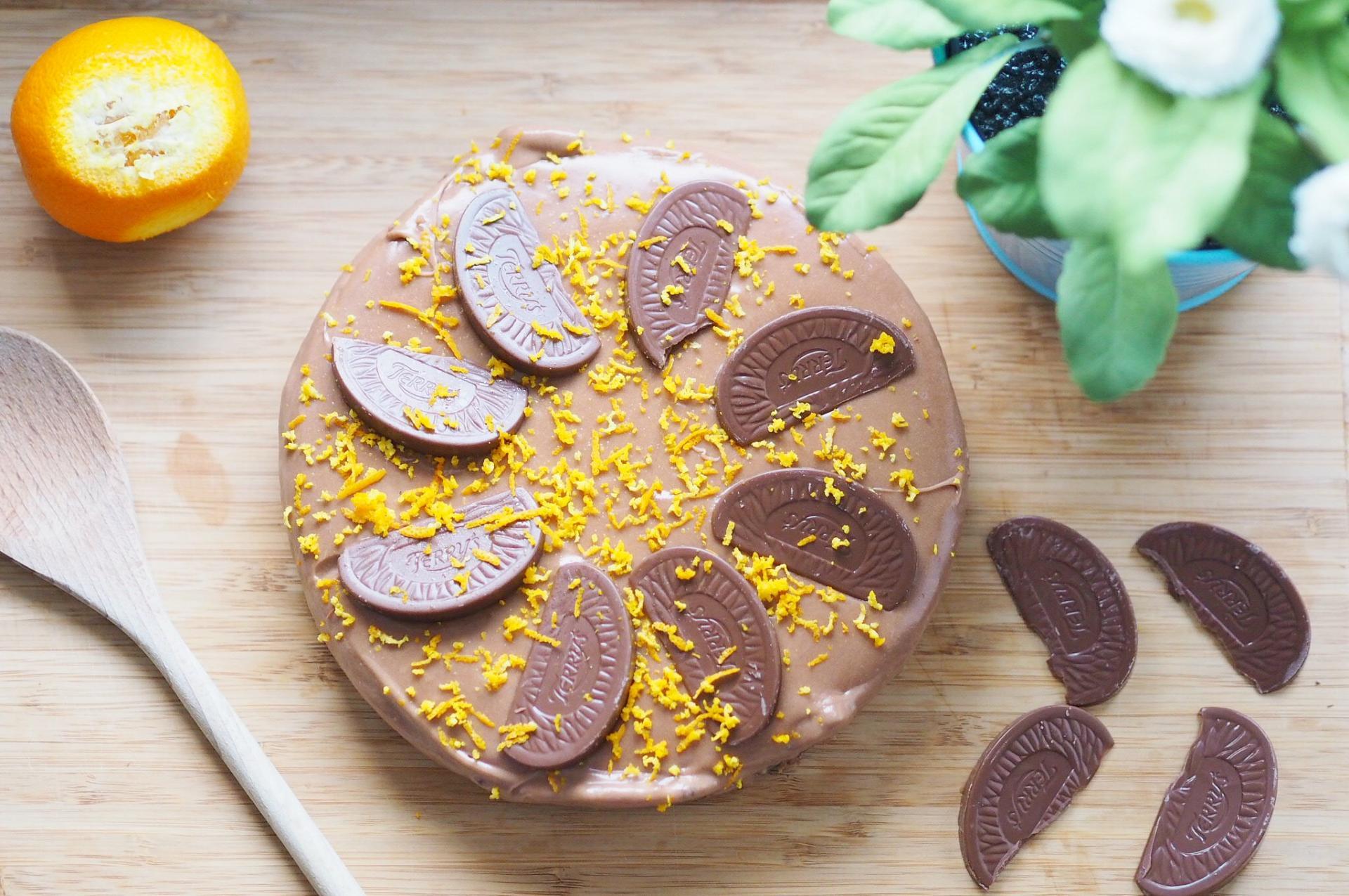 chocolate orange cheesecake 1