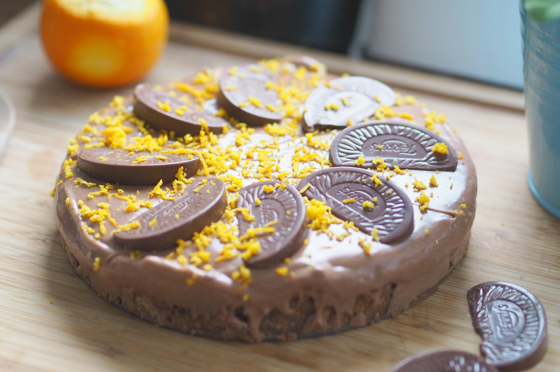 chocolate orange cheesecake 3