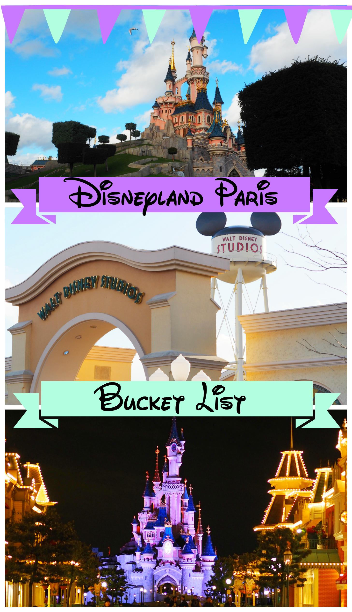 disneyland paris bucket list
