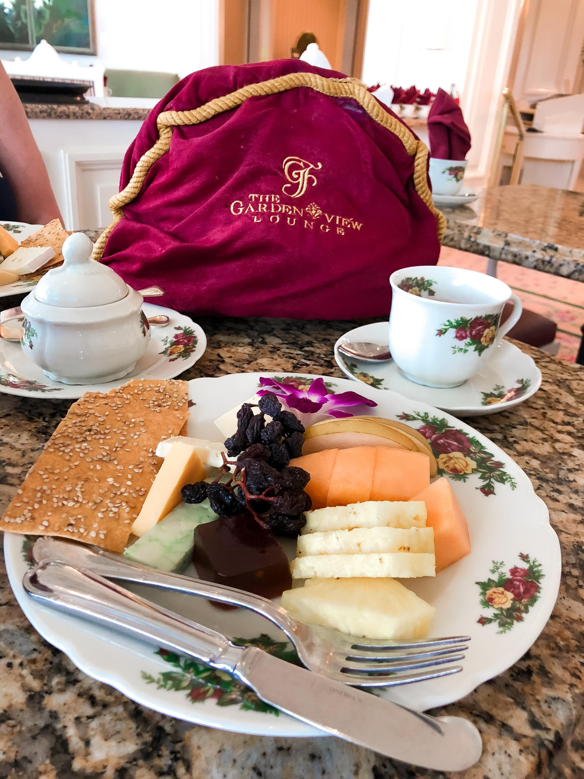 Cheese plate at Afternoon tea at The Grand Floridian