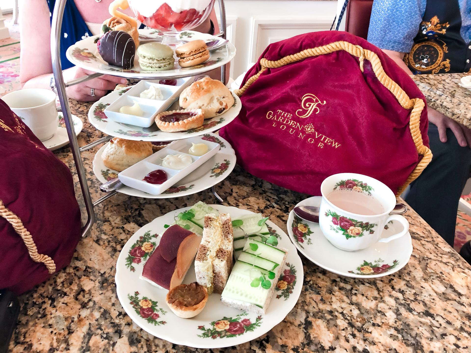 Scones, pastries and sandwiches at Afternoon tea at The Grand Floridian
