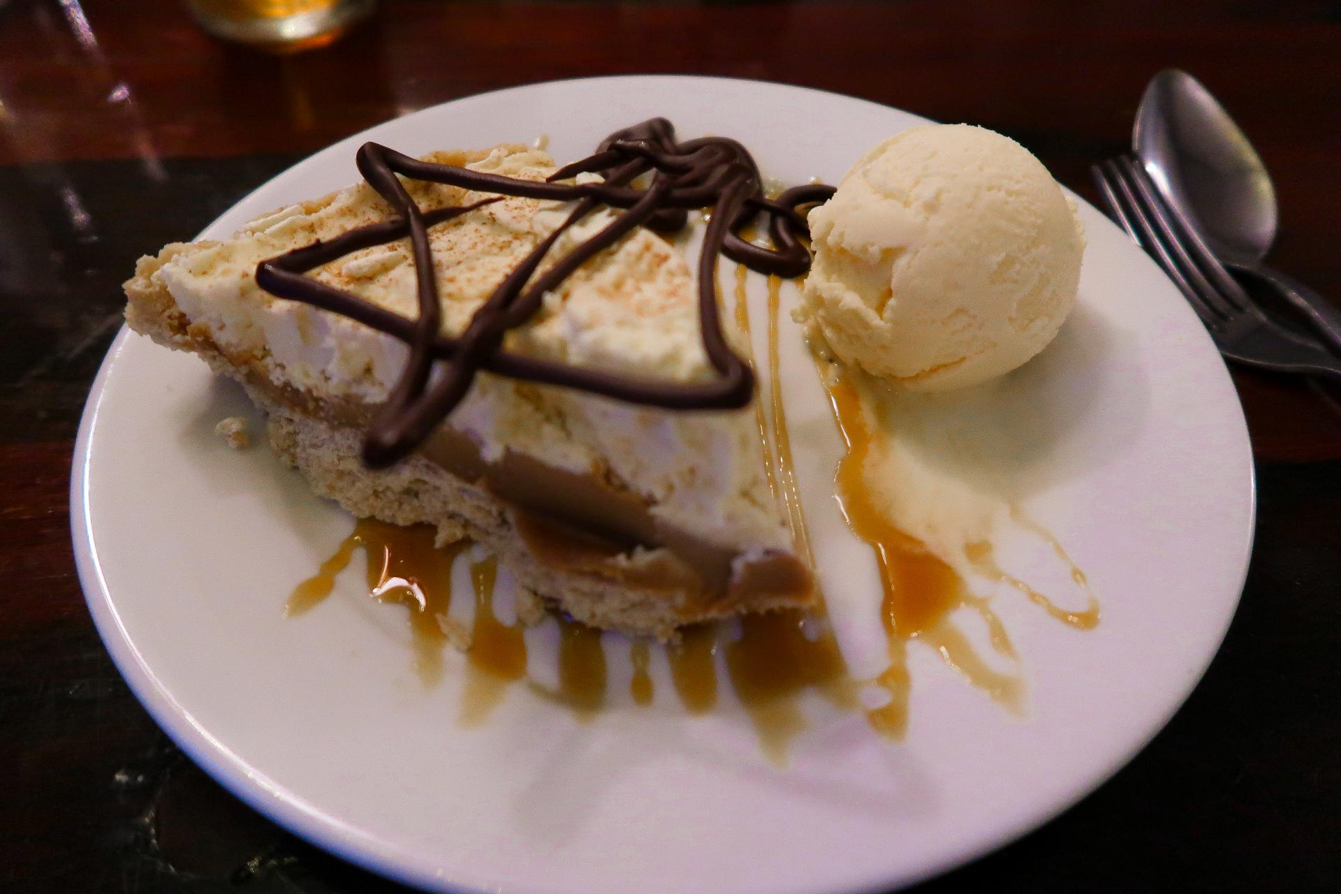 Banoffee Pie at The Ship Inn, Swansea Bay