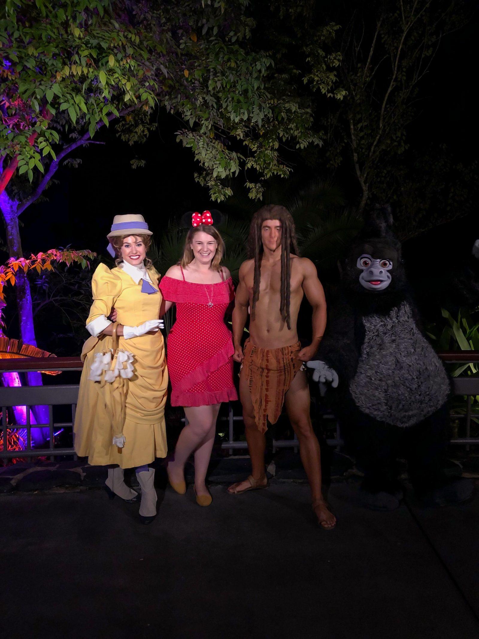 Mickey's Not So Scary Halloween Party Tarzan, Jane and Turk meet and greet