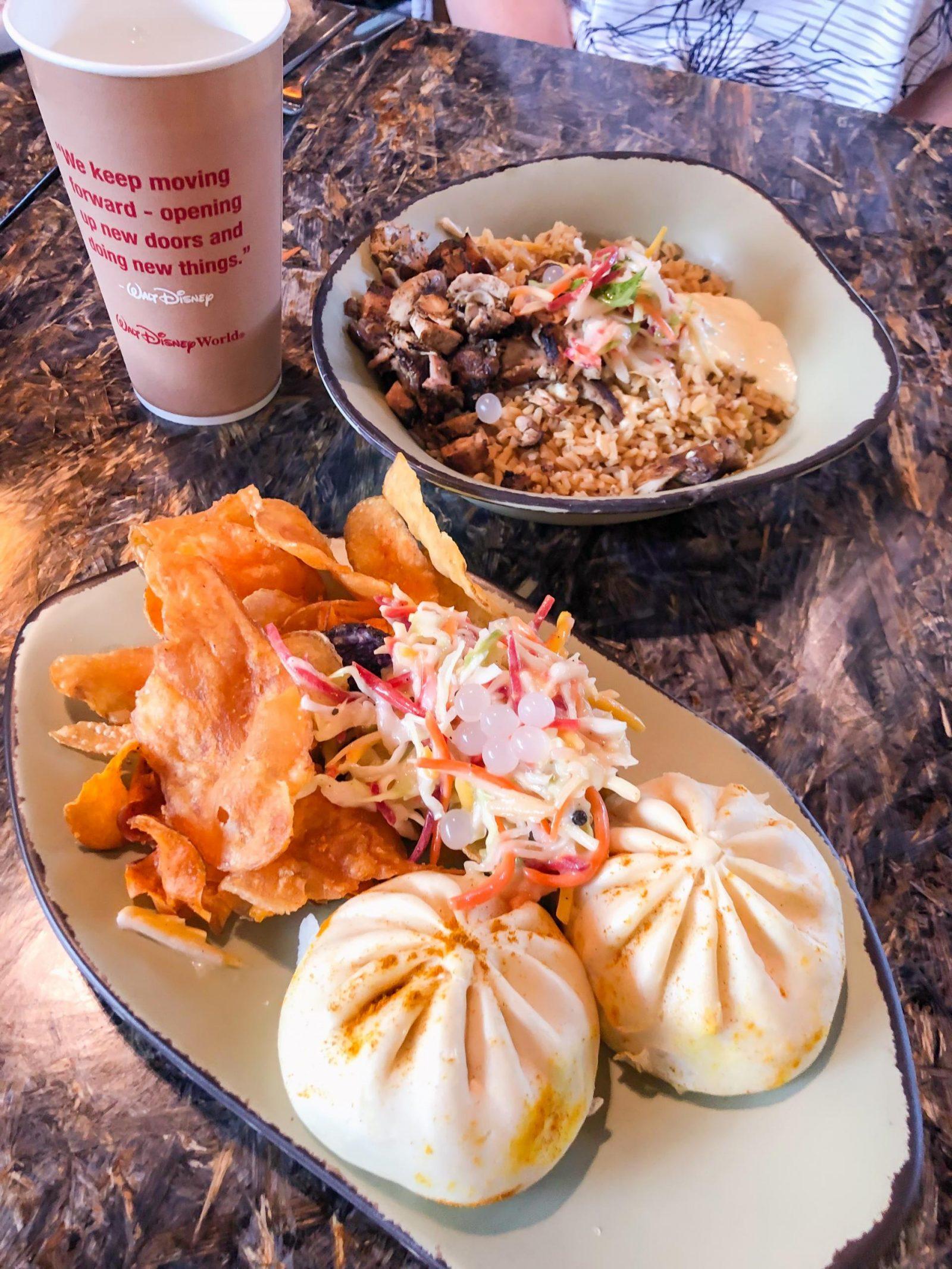 Cheeseburger Pods and Combination Bowl at Satu'li Canteen - Quick Service Restaurants at Disney World