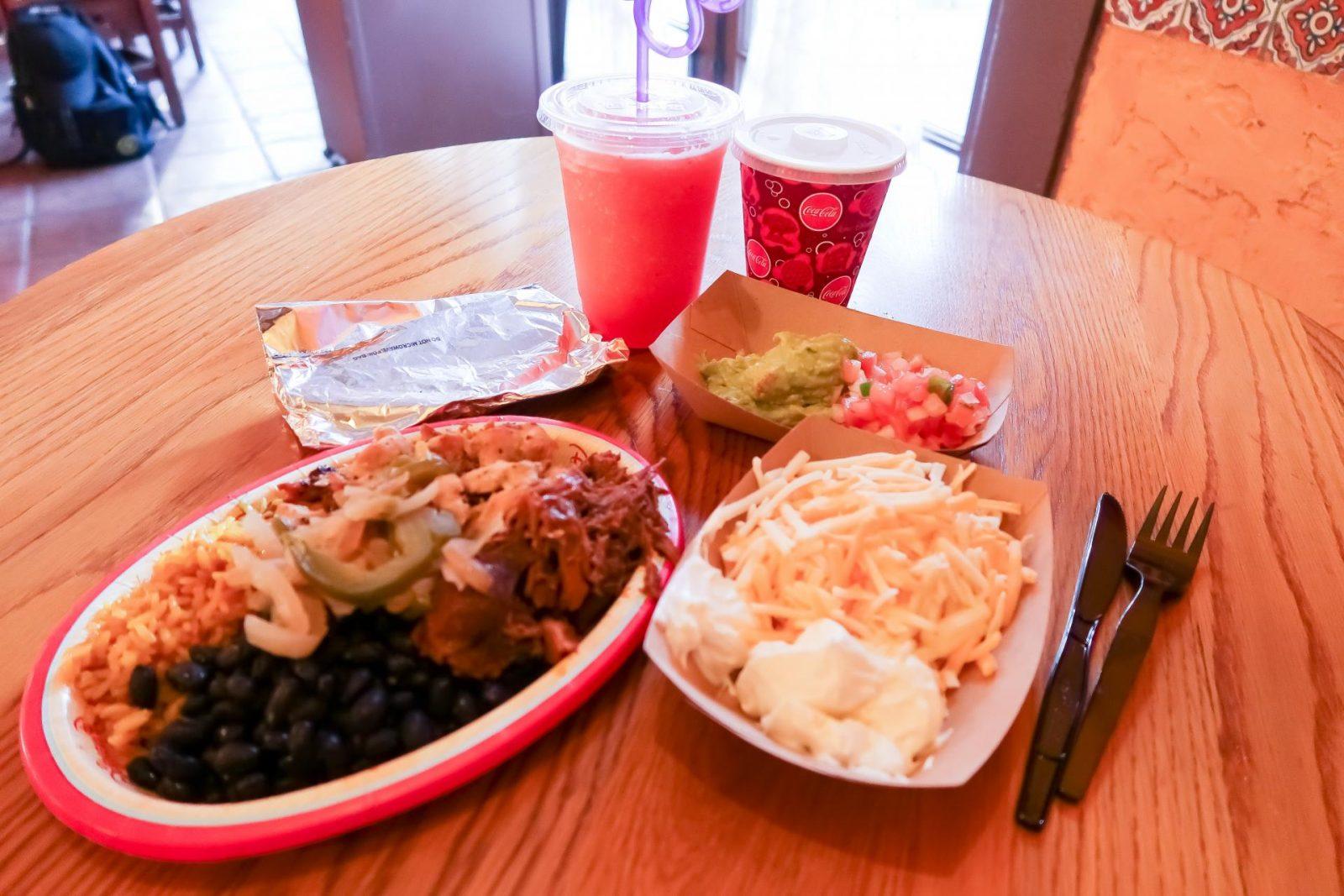 Fajita Platter at Pecos Bill - Quick Service Restaurants at Disney World