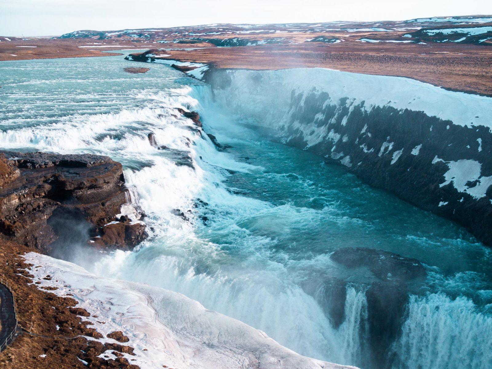 Gullfoss Waterfall, Golden Circle Tour - Reykjavik, Iceland