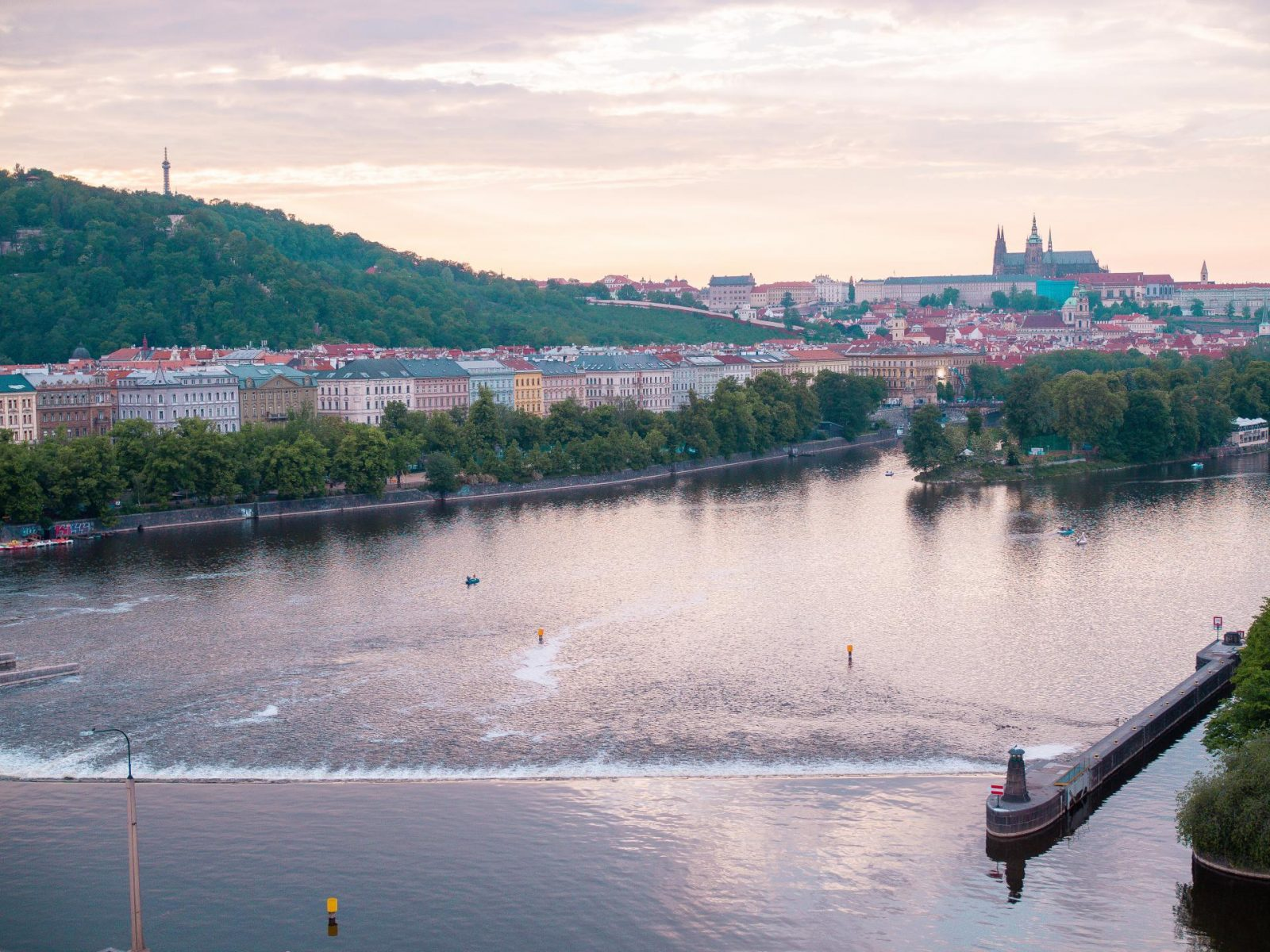 Prague - Dancing House Hotel 7th floor view