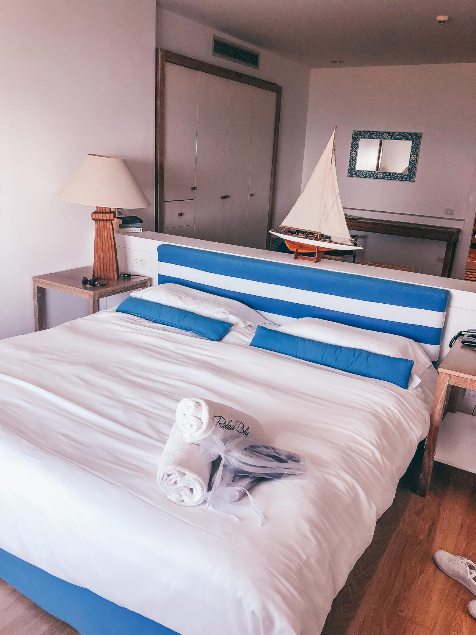 The Relais Blu is just on the outside and has deluxe bedrooms overlooking Capri.