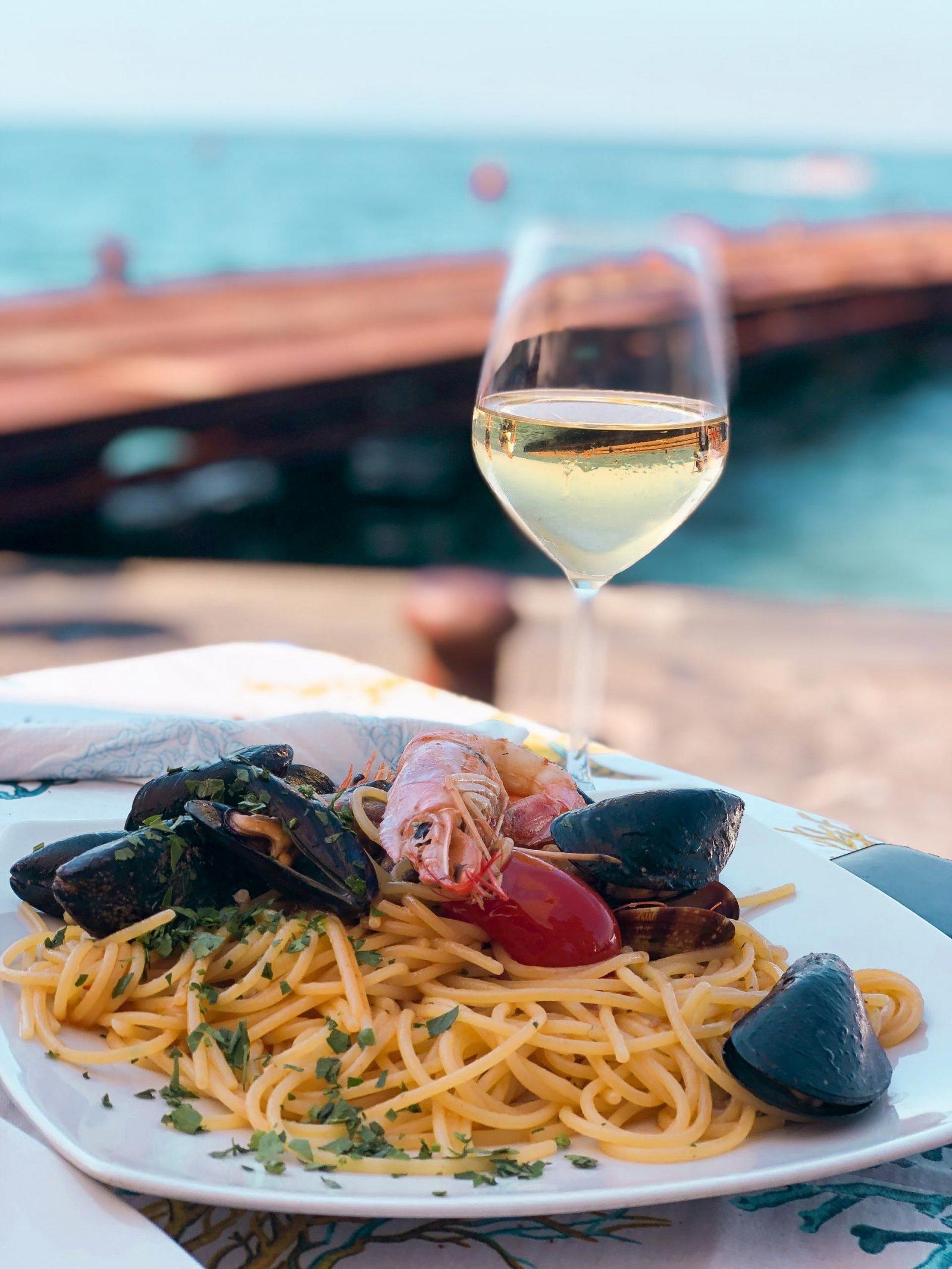 Seafood Linguine from Porta Marina Seafood, Sorrento