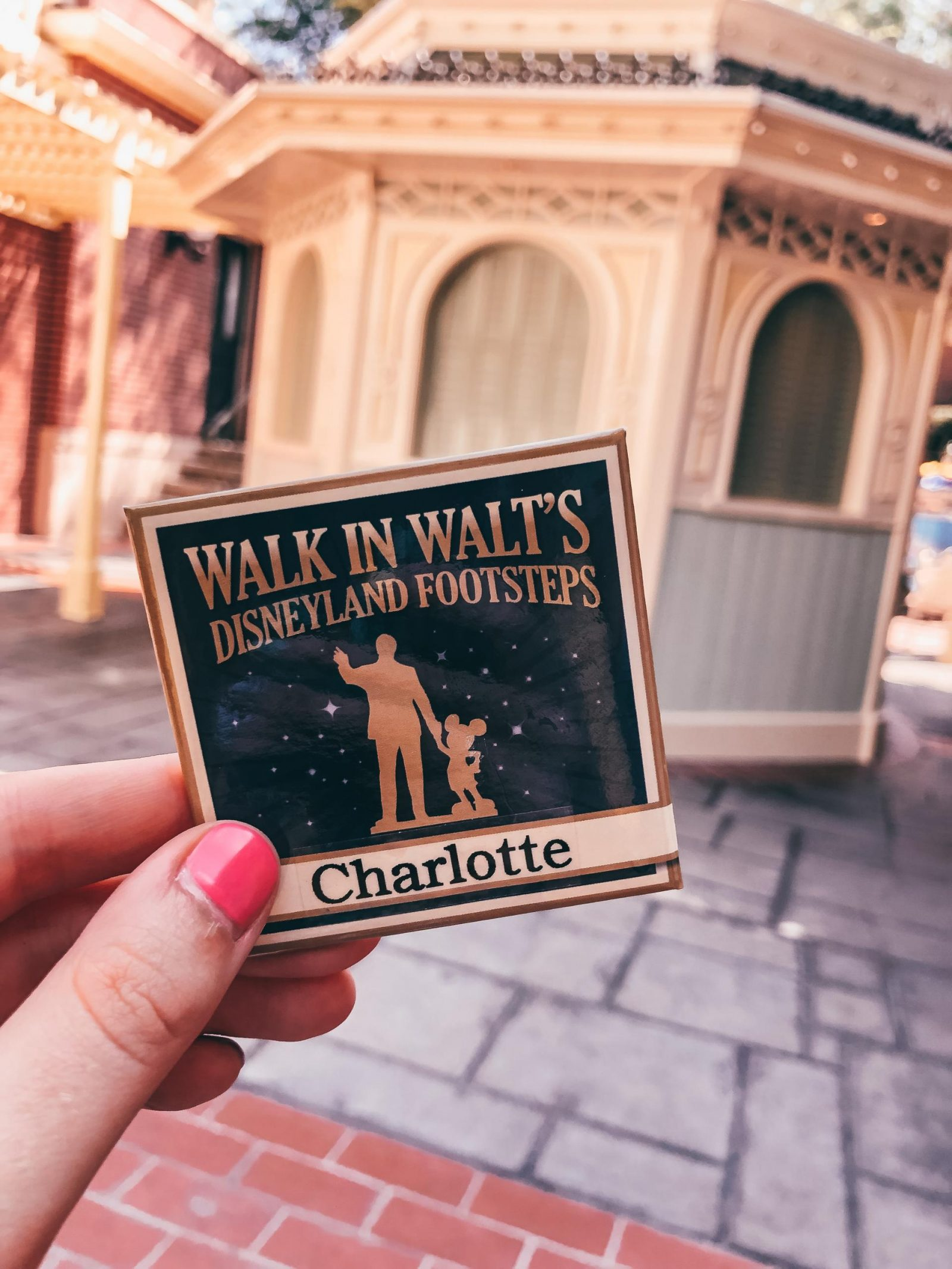 Walk in Walt's Disneyland Footsteps Tour Badge