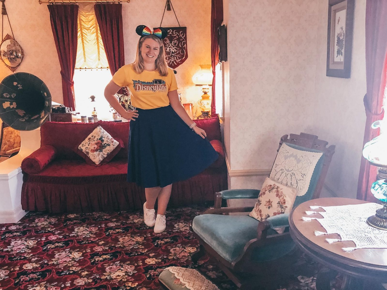 Inside Walt's apartment on the Walk in Walt's Disneyland Footsteps Tour