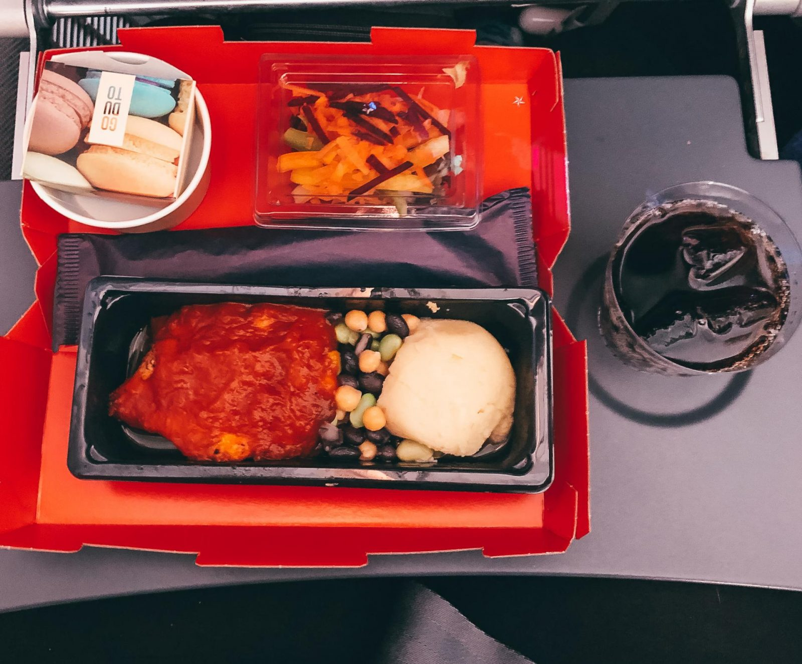 The food when flying economy with Norwegian.