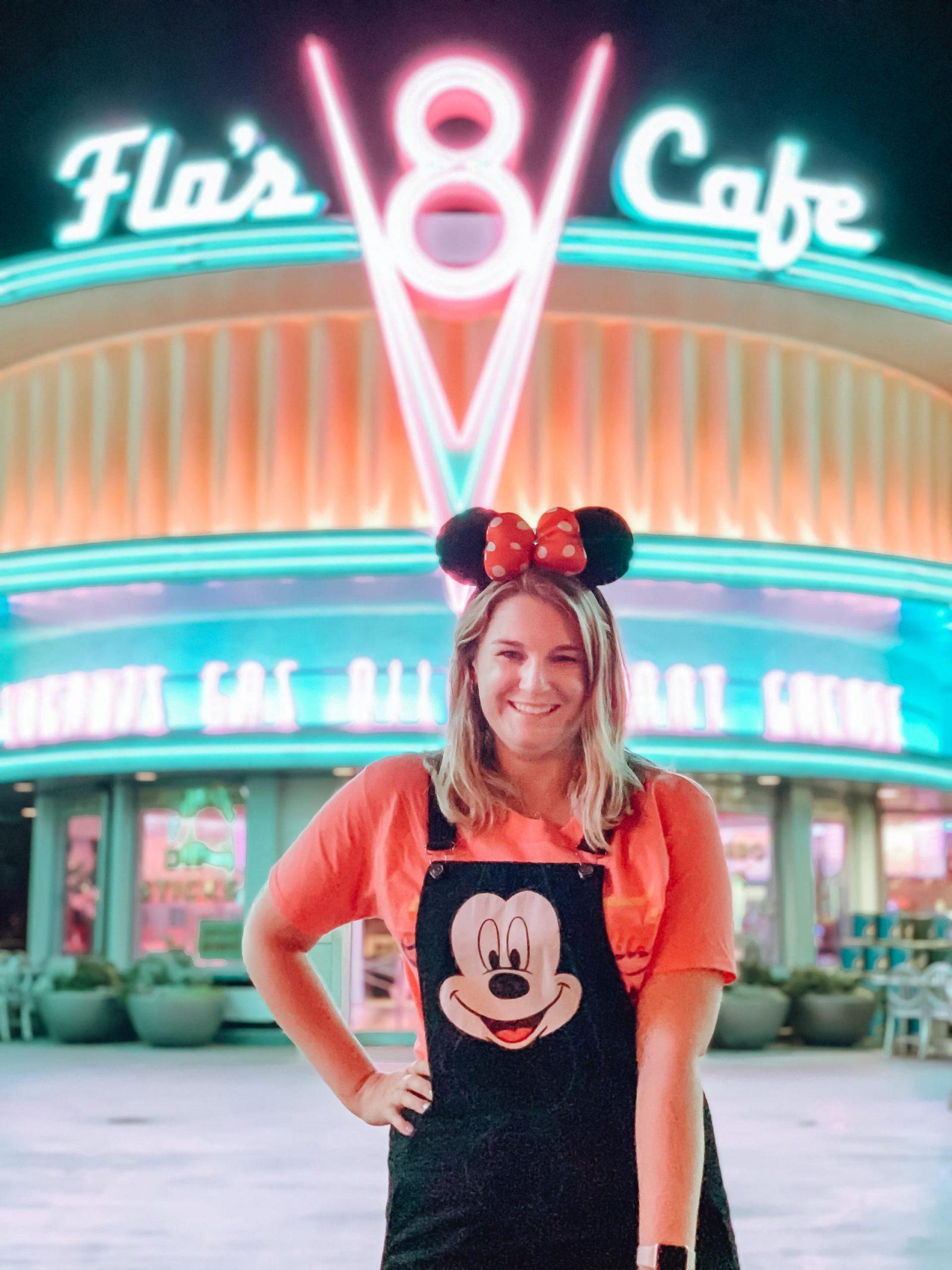 Flo's Cafe in Carsland, Disneyland California.