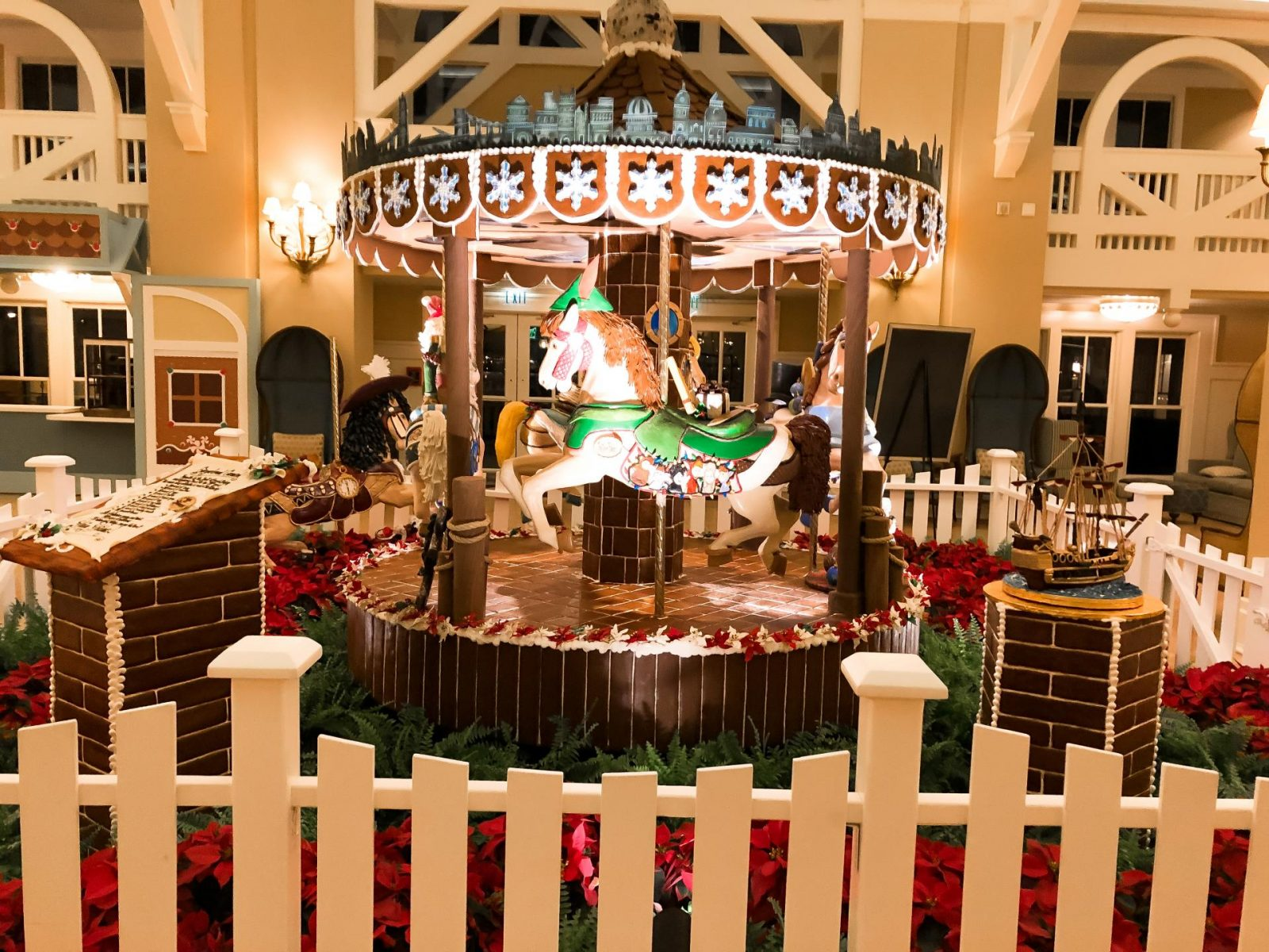 Gingerbread Carousal at Disney's Beach Club Resort