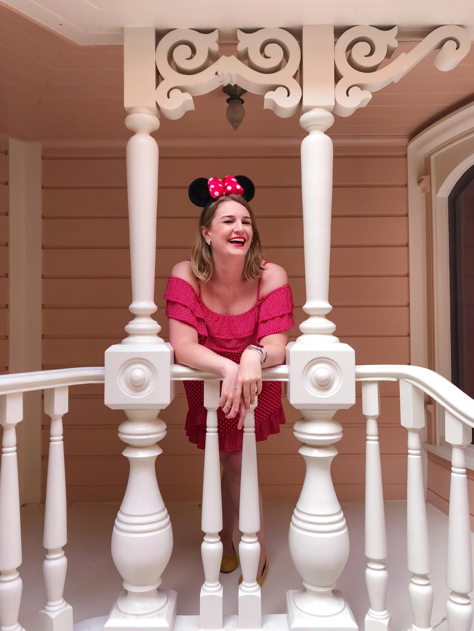 The Pink Porch - one of the most Instagrammable spots at Disneyland Paris