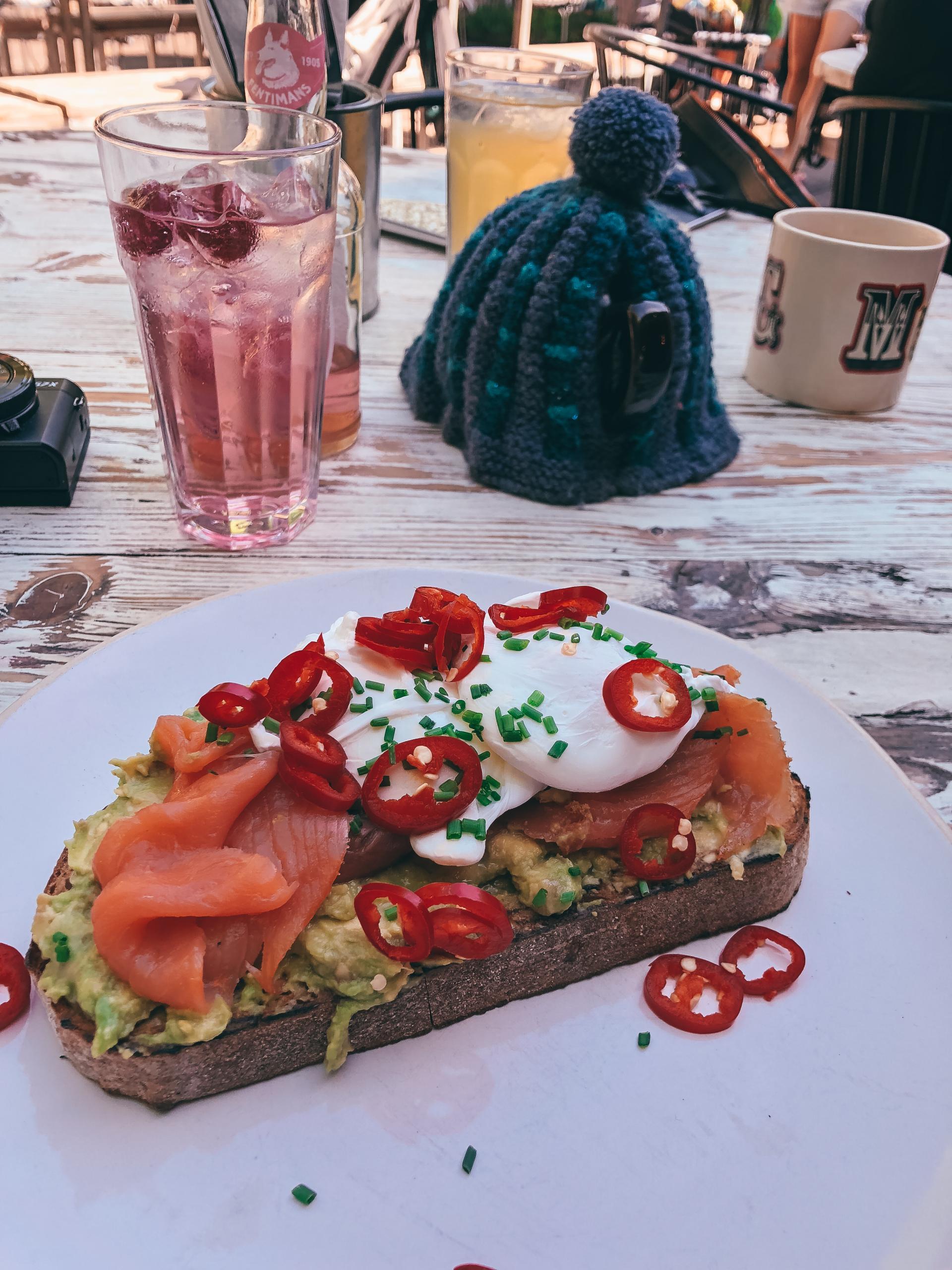 Avocado on Toast, The Plough Harborne.